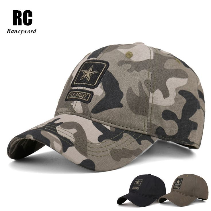 [Rancyword] High Quality Army Cap Camo Men Baseball Cap Brand Tactical Cap Men's Camouflage Hats Caps Gorra Militar RC1033