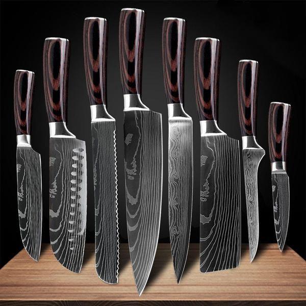 Kizaru Professional Japanese Chef Knife Set With Damascus