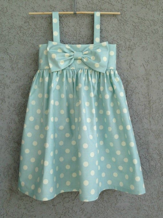 This Adorable Timeless Big Bow Dress Is Perfect For Your Stylish Little Lady This Dress Is Made From Hi In 2020 Toddler Girl Dresses Girls Dresses Diy Toddler Dress
