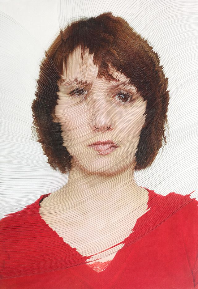 Time lapse Portraits Layered and Cut to Reveal the Passage of Time portraits paper
