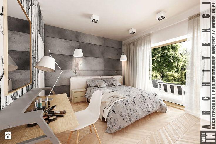 Koszalin - domek jednorodzinny - Sypialnia, styl minimalistyczny - zdjęcie od More IN