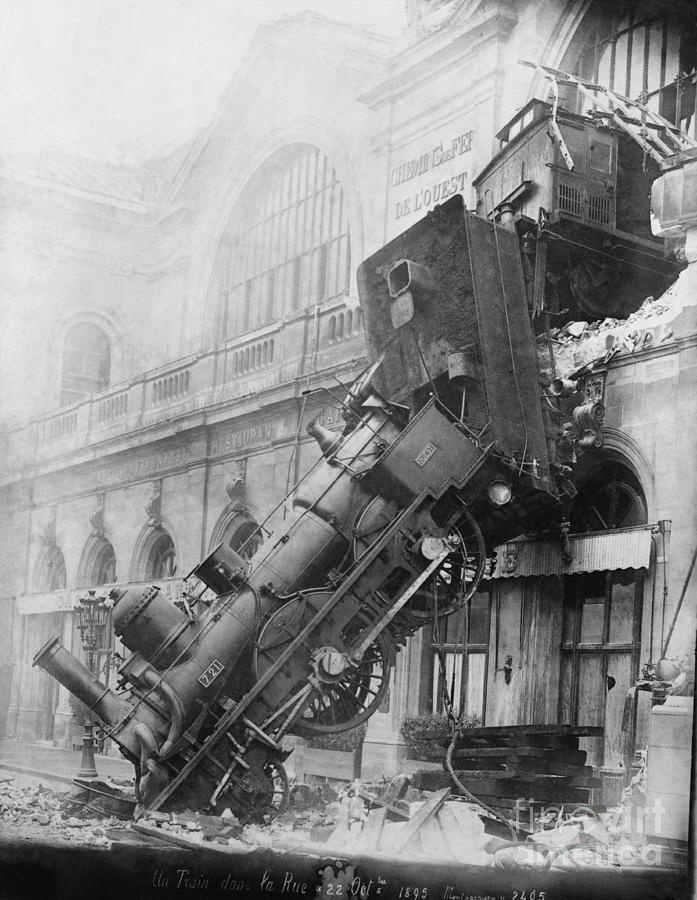 Gare Montparnasse Train Wreck Photograph  - Gare Montparnasse Train Wreck Fine Art Print