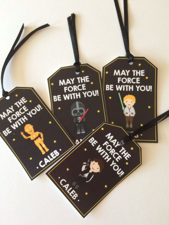 12 Boys Birthday Party Favor Tags Starwars Star by Onthegoprints