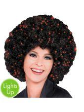 Black Fiber Optic Afro Wig - Halloween City