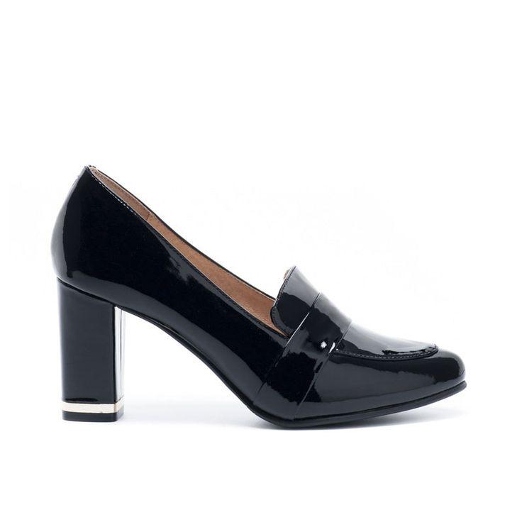 Туфли женские купить черный лакированная кожа - 5D10-500-1