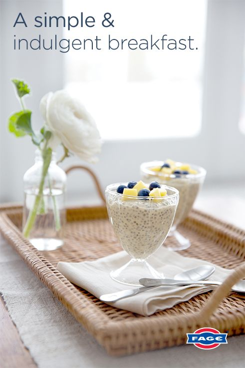 Go ahead: eat dessert for breakfast when you make this Mango Chia Pudding recipe with FAGE Total Greek Yogurt.