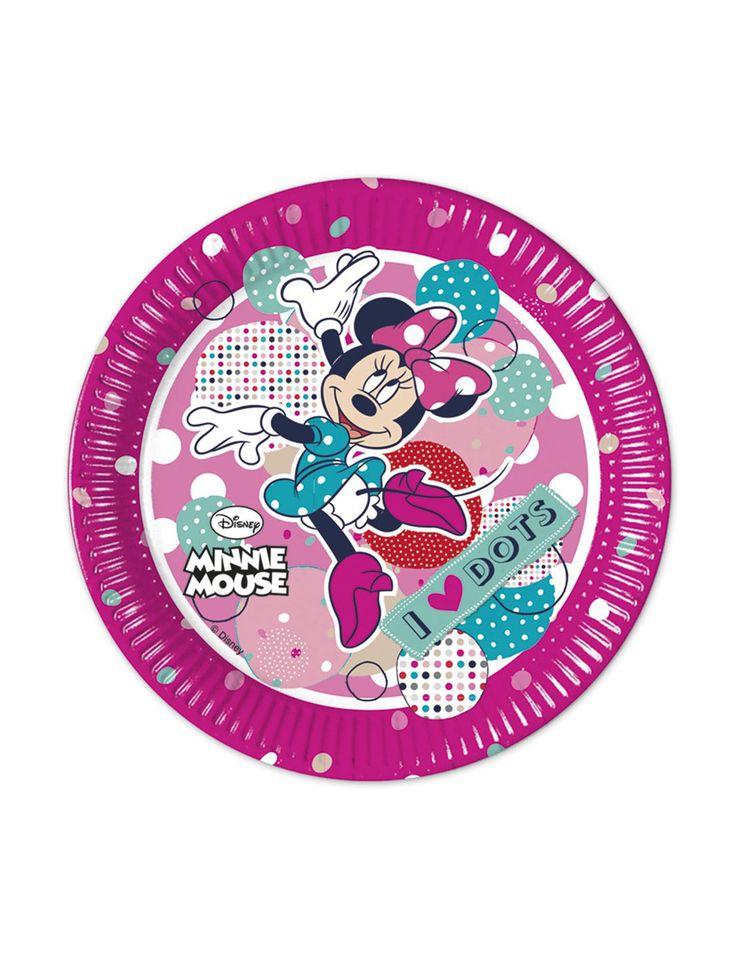 8 Piatti di Minnie in cartone su VegaooParty, negozio di articoli per feste. Scopri il maggior catalogo di addobbi e decorazioni per feste del web,  sempre al miglior prezzo!