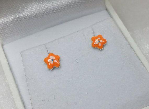 Kinder Blumen Ohrstecker Ohrringe Silberohrringe KO127 von myduttel