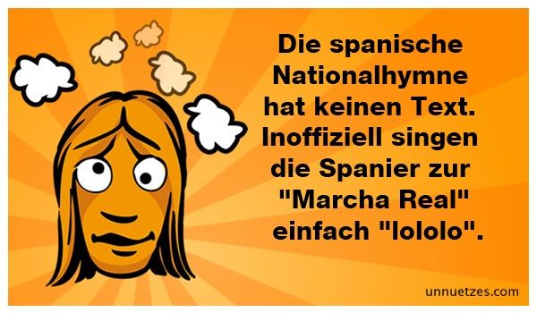 Die spanische Nationalhymne..