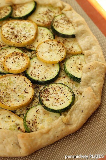 Zucchini & Squash Galette. A simple, fresh, vegetarian, summer meal.
