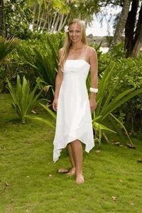Casual Handkerchief Beach Wedding Dress