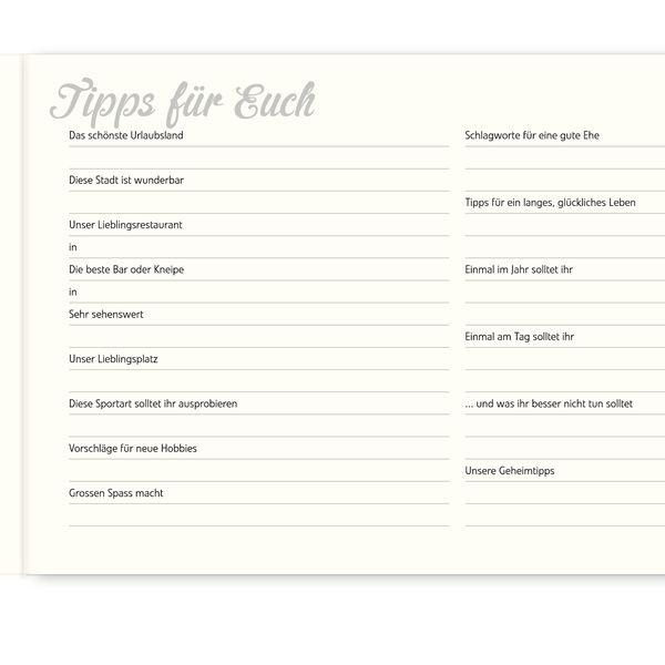 Hochzeitsgästebuch - 'Über uns' Gästebuchseiten - 5er Set - ein Designerstück von dhornroeschen bei DaWanda