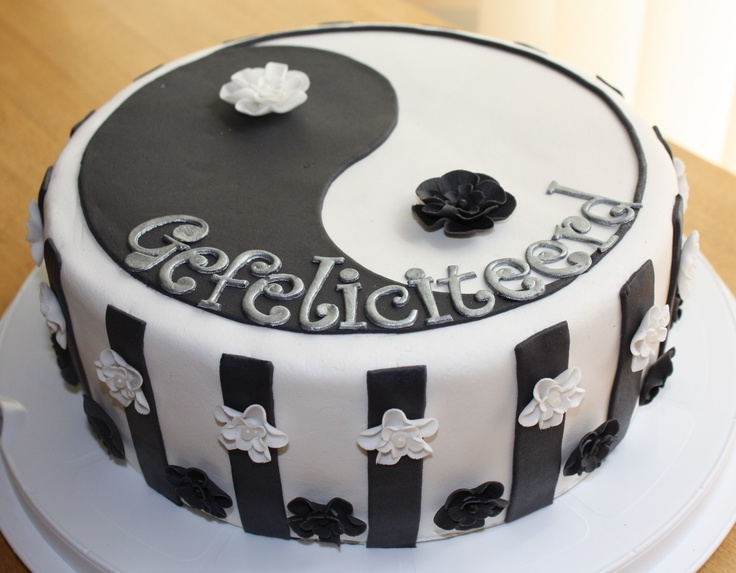 Yin yang cake decoration for Decoration murale yin yang
