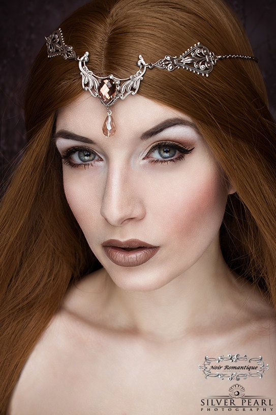 The crystal fairy fantasy circlet-gothic by NoirRomantique on Etsy Model: La Esmeralda Photos by Silver Pearl Photography