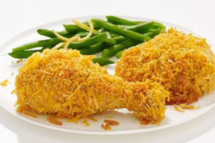 """""""Oven-Fried"""" Four Cheese Chicken Recipe - Kraft Recipes"""