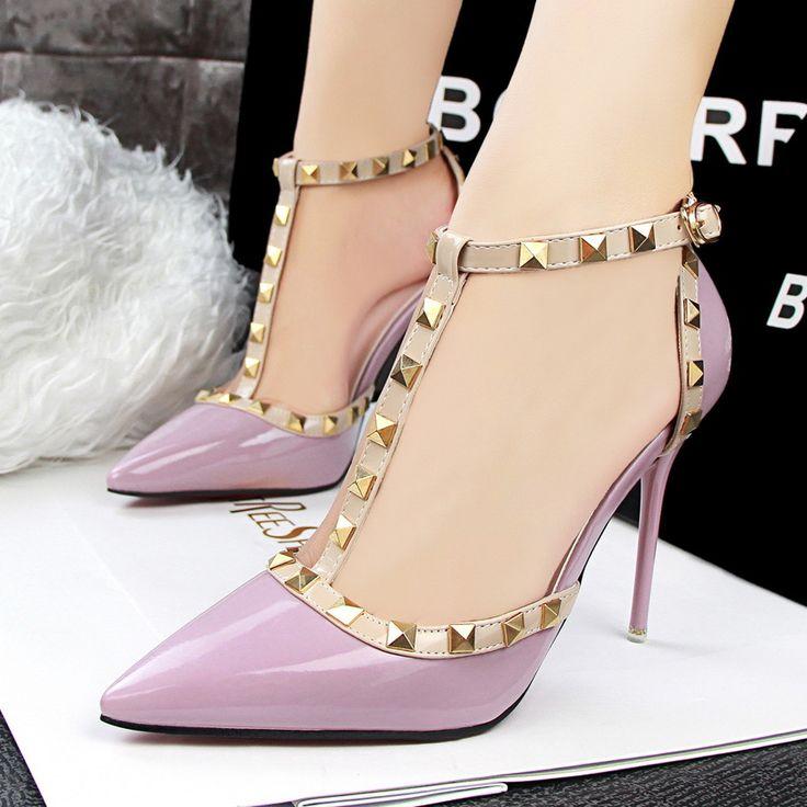 Aliexpress.com: Comprar Estilo europeo Verano de Las Mujeres Sandalias 2016 Nueva Sandalia Sandalias de la Bomba de Zapatos de la Marca de Moda de Metal Decorativos SMYDS 10137 de sandalia fiable proveedores en Nantong Sunnen Store