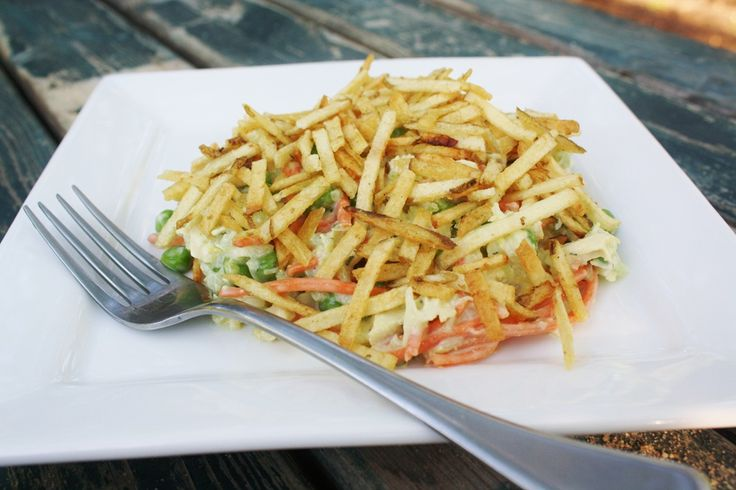 Potato Stick chicken salad