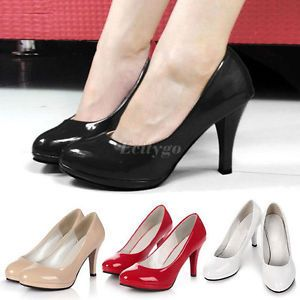 Free Shipping 2014 New Fashion Womens Ladies Stiletto High Heels Office Dress Work Court Platform Pumps  4 Colors