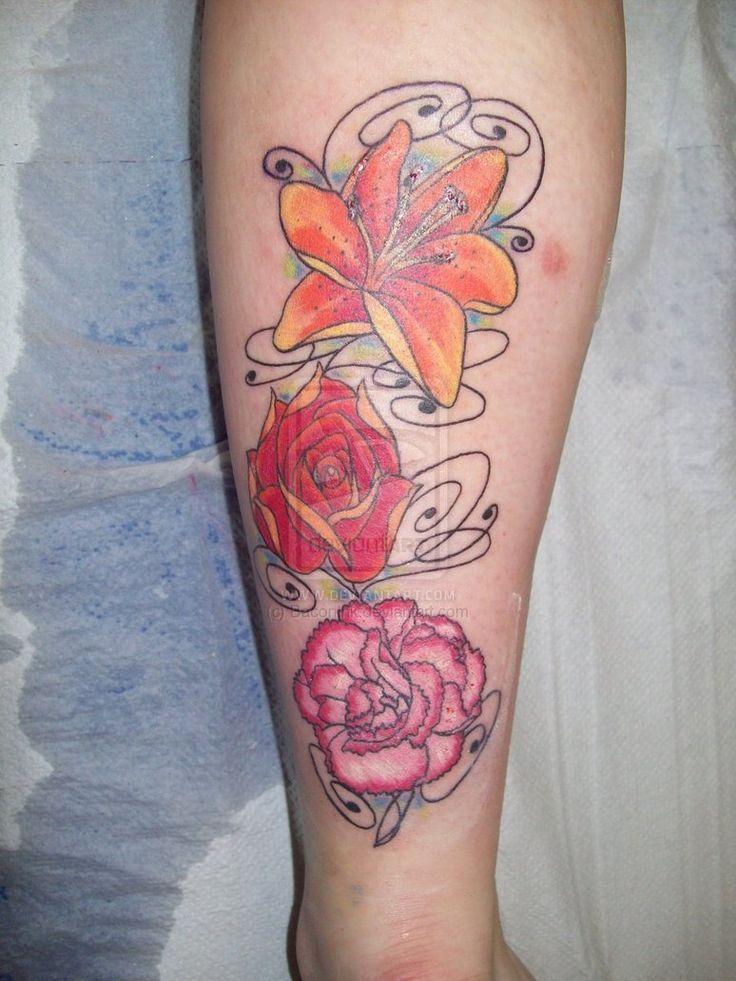 49 best flower tattoos birthday images on pinterest