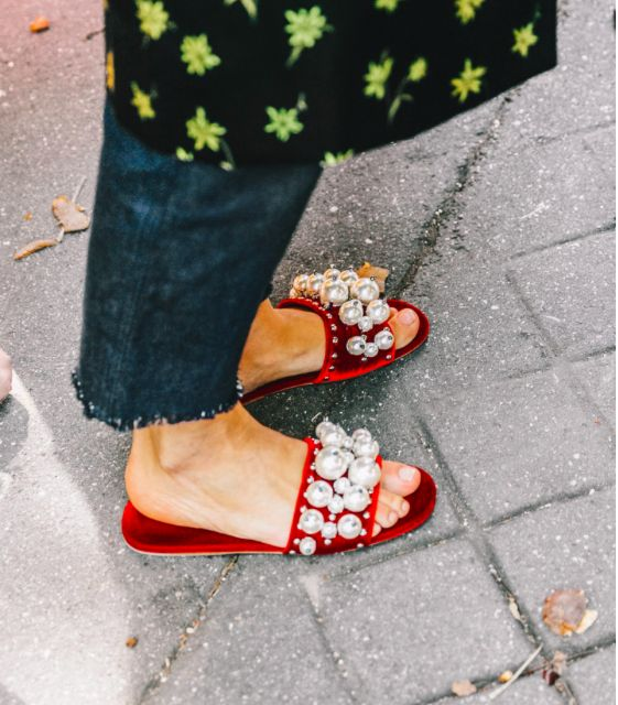 Look at these fun Miu Miu pearl slip on's (photo courtesy of collagevintage)