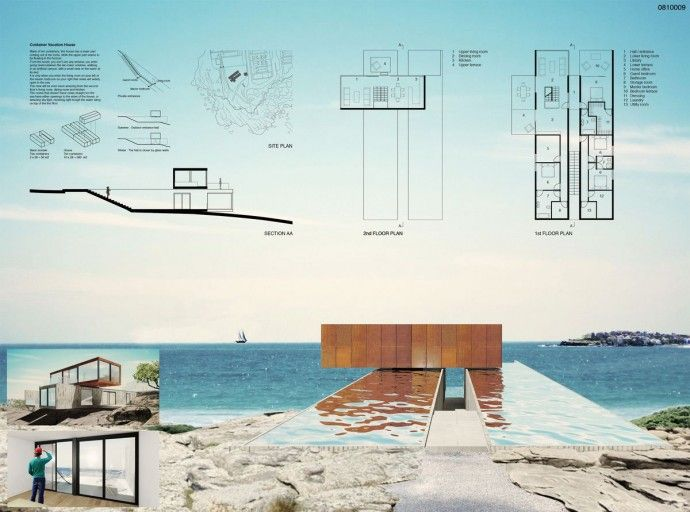 [SYDNEY] Container Vacation House Competition/ Maxime Rousse. Finland.
