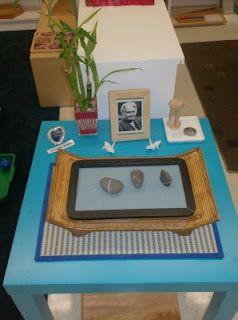 Peace table with zen garden