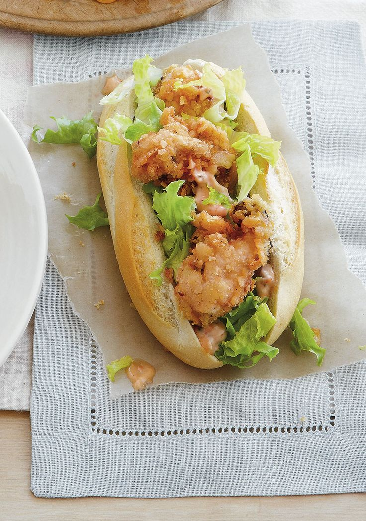 Fried Oyster Po'Boys Recipe (secret ex. ingredient, sriracha!) to pair ...
