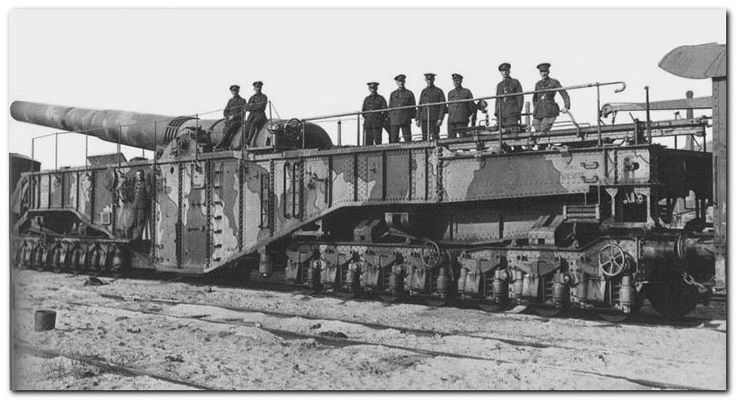 British railway gun WW I.