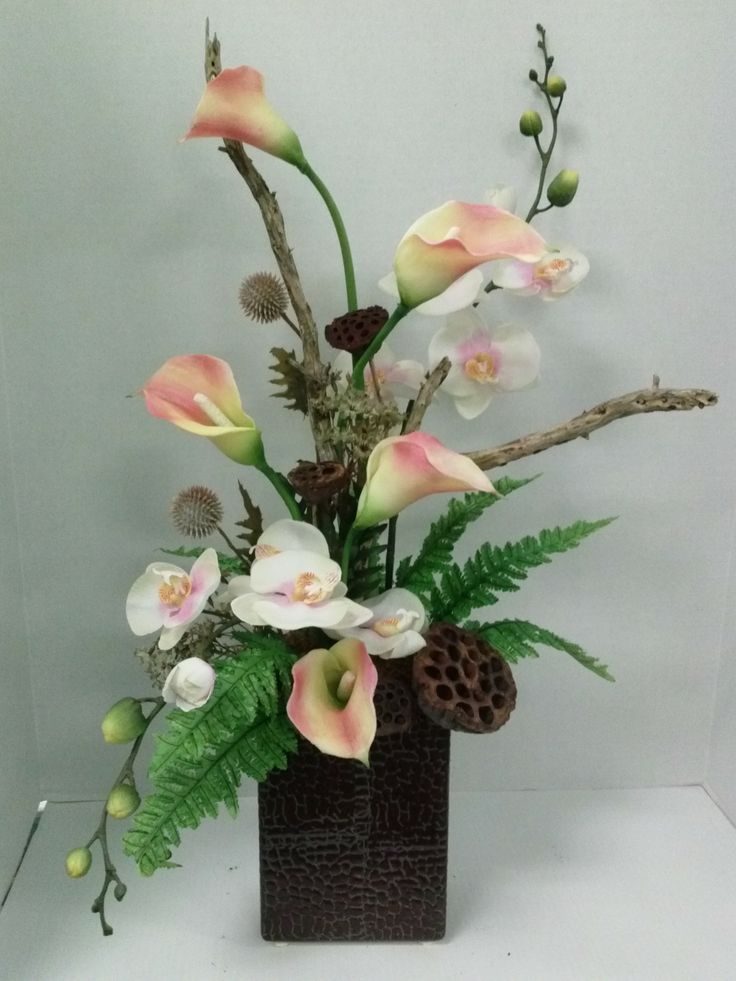 Tropical Silk Arrangement | Silk Arrangements | Floral ...