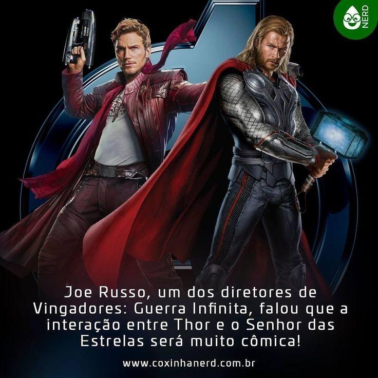 #CoxinhaNews Joe Russo um dos diretores de Vingadores: Guerra Infinita falou que a interação entre Thor e o Senhor das Estrelas será muito cômica! #timelineacessivel #pracegover   TAGS: #coxinhanerd #nerd #geek #geekstuff #geekart #nerd #nerdquote #geekquote #curiosidadesnerds #curiosidadesgeeks #coxinhanerd #coxinhafilmes #filmes #movies #euamocinema #adorocinema #vingadores #guerrainfinita #avengersinfinitywar #infinitywar #avengers #marvel #marvelmovies #thor #peterquill