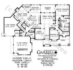 Bellevue House Plan House Plans By Garrell Associates