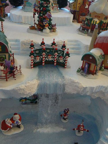 Darcy's North Pole falls by 56th and Main, via Flickr                                                                                                                                                                                 More