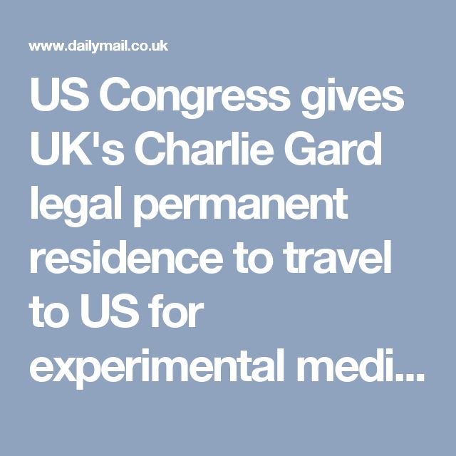 US Congress gives UK's Charlie Gard legal permanent residence to travel to US for experimental medical treatment - wow, would they go that far for a black child in Baltimore?