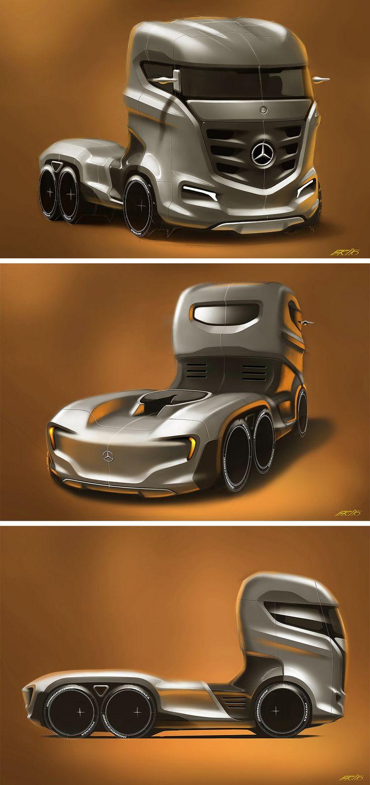 Mercedes-Benz Axor Truck Concept http://www.carbodydesign.com/2013/07/mercedes-benz-axor-truck-concept/