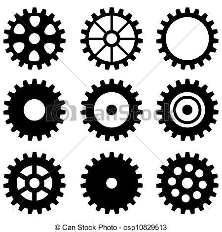 clipart of set of gear wheels csp10829513 search clip art