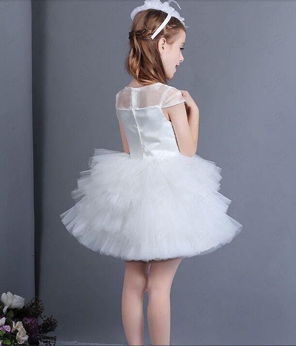 Nueva venta caliente por encargo vestidos floristas chicas desfile para el bebé Sashes balón vestido longitud de la rodilla del Organza de las colmenas