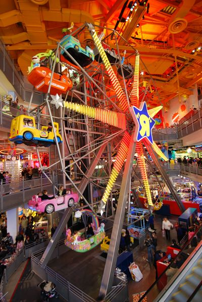 "The ferris wheel inside the Toys ""R"" Us Times Square store. Every time we go, I try to convince my mom to let me relive a little of my childhood by taking a joyride in the Mystery Machine"