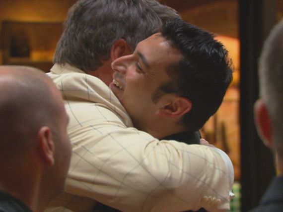 The judges hug Rishi goodbye after he rushed into his last char grilled mistake.