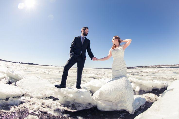 Winter Wedding on #CapeCod #CapeCodWedding #icebergs #laceweddingdress #frozen #winterwedding www.simplykstudios.com