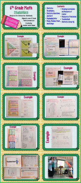 6th Grade Statistics Interactive Notebook Bundle @Valerie Gliessman
