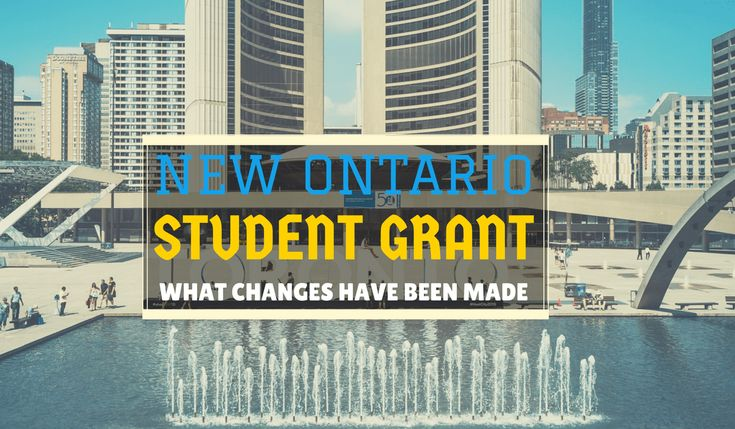 Ontario announced the New Ontario Student Grant starting in the 2017-18 school year. Students whose parents make a combined household income of less than $50,000 per year can have a tuition free.