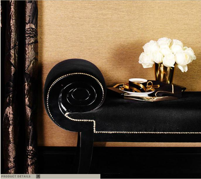 Ralph Lauren Home One Fifth Collection Black And Gold Art Deco Feminine Cat New York City Modern PatioDesign FilesHome Interior