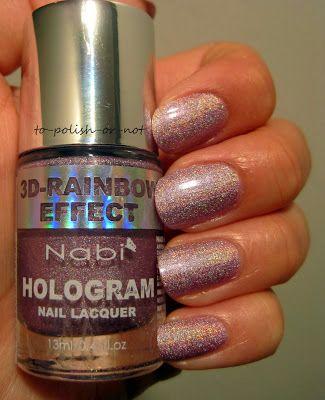 To Polish or Not?: Nabi Hologram ~ Lavender