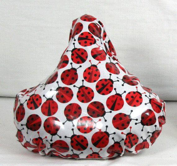 Ladybugs Bicycle Saddle Seat Cover  by ShirleySewDesigns on Etsy, $15.00