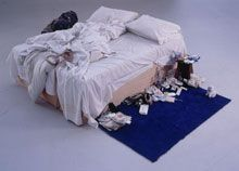 We didn't go to the Modern Tate or a Saatchi gallery when we were in London, I wish we had. Tracey Emin, My Bed, 1998
