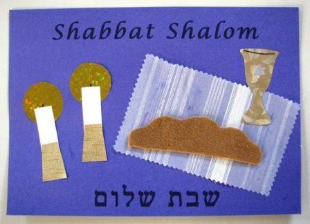 A collage of Shabbat symbols « Joyful Jewish