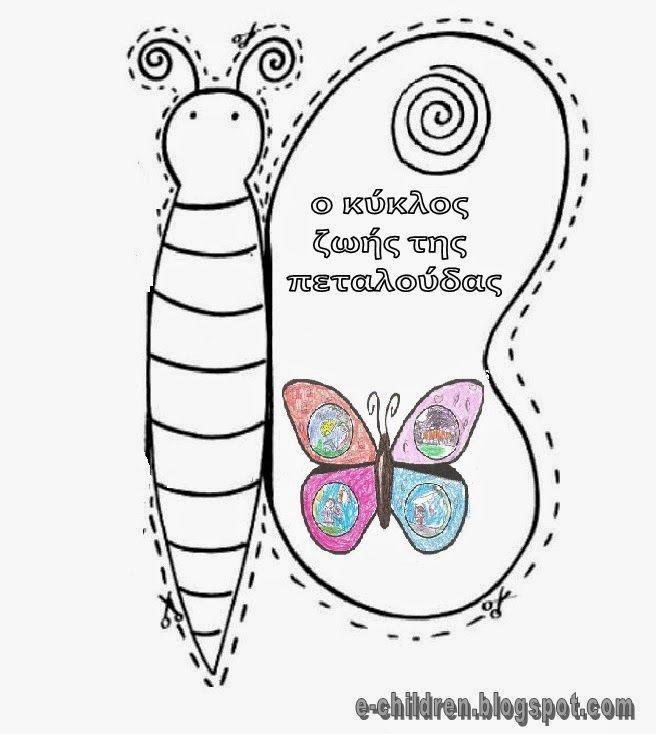 Ο κυκλος ζωης της πεταλουδας- πεταλουδοβιβλιο