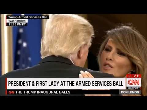 Trump & Melania dance at Armed Services Ball to