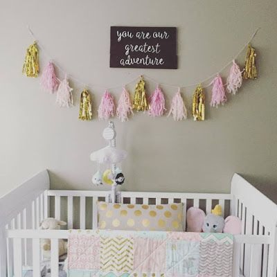 Pink, Mint, and gold nursery reveal and inspiration!