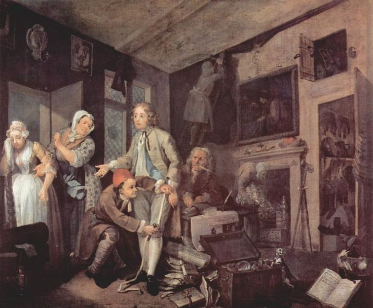 A Rake's Progress  William Hogarth: English Artists, Williams Hogarth, Hogarth 1697, Rake Progress, Hogarth Theheir, 18Th Century English, Hogarth Rake, Artists Williams, Paintings